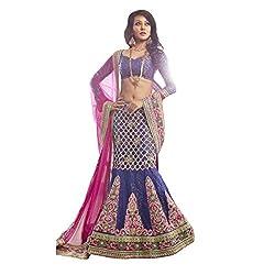 Aagaman Fashions Brocade Lehenga Choli (TSN15005_Blue)