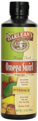 Barlean's Mango Peach Fish Oil Omega Swirl, 16-Ounce