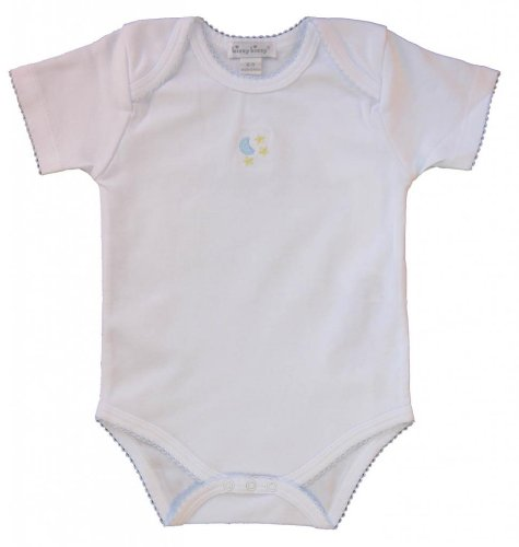 Kissy Kissy Baby Boys Homeward Bound Moon And Stars Embroidered Short Sleeve Bodysuit-0-3 Months front-961882