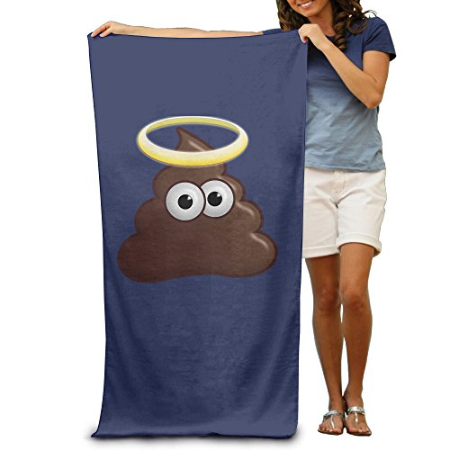 LCYC Emoji Poo Adult Cartoon Beach Or Pool Hooded Towel 80cm*130cm (Super Robot Baron compare prices)