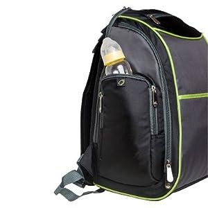 fisher price urban backpack diaper bag black lime grey baby. Black Bedroom Furniture Sets. Home Design Ideas