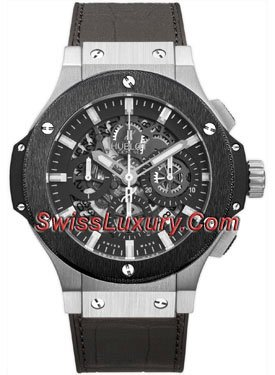 Hublot Big Bang Aero Bang Stainless Steel and Ceramic Watch from Hublot