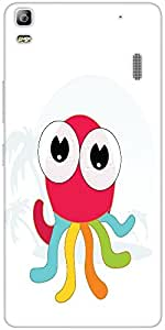 Snoogg Cute Little Octopus Designer Protective Back Case Cover For Lenovo A7000