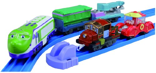 Plarail Chuggington - Koko and Hodge with Freight Cars Set (5-Car Set) (Model Train)