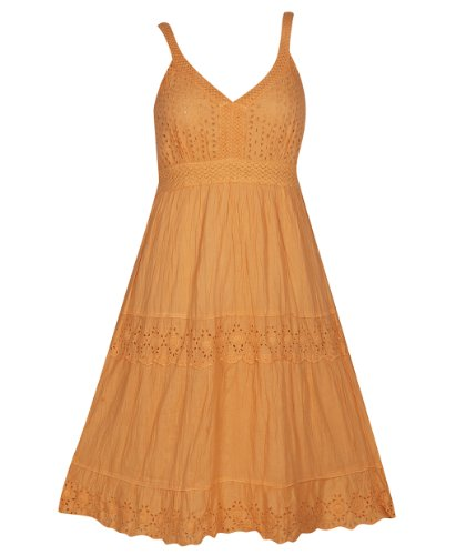 Plus Size Coral Eyelet Maxi Dress --Size: 3X Color: Coral front-11940