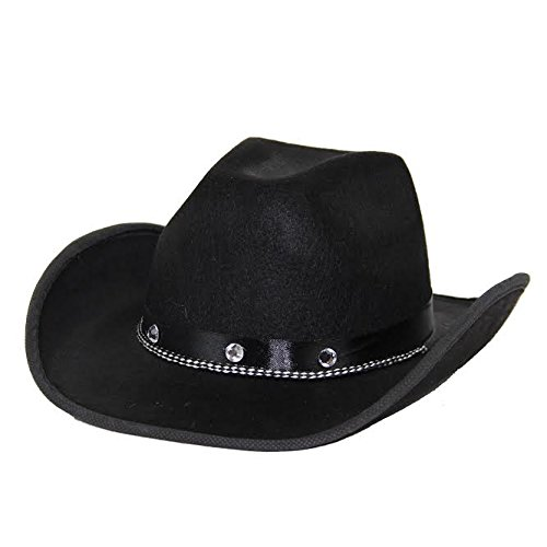Dazzling Toys Kids Black Cowboy Hat One Size Fits Most