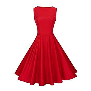 Anni Coco Women's Classy Audrey Hepburn 1950s Vintage Rockabilly Swing Dress