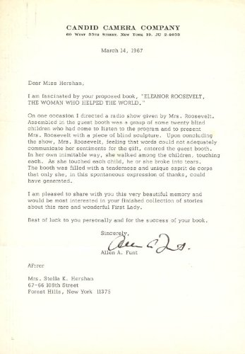 Allen Funt - Typed Letter Signed 03/14/1967