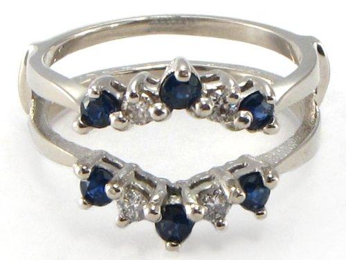 Wedding Ring Enhancers White Gold 13 Awesome Sapphire wedding ring enhancer