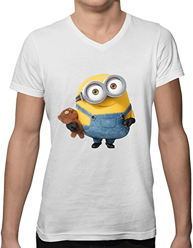 cute-minion-new-short-sleeve-v-neck-mens-t-shirt