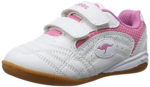 KangaROOS Babyyard, Sneaker bambine Bianco Weiß (white/pink 006) 25