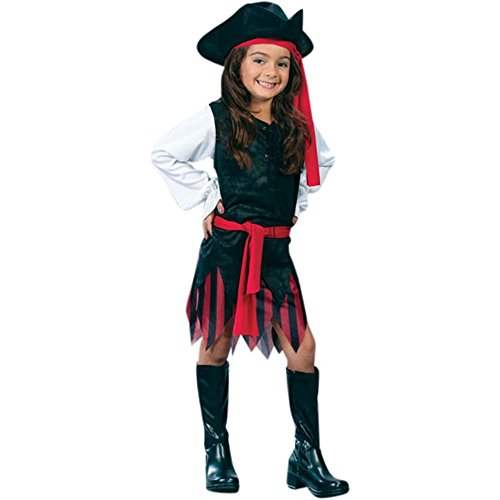 Kid's Pirate Girl Costume (Size:Small 4-6)