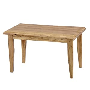Dollhouse Miniature Oak Kitchen Table by Aztec Imports, Inc.