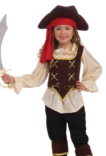 Buccaneer Girl Costume, Child Medium