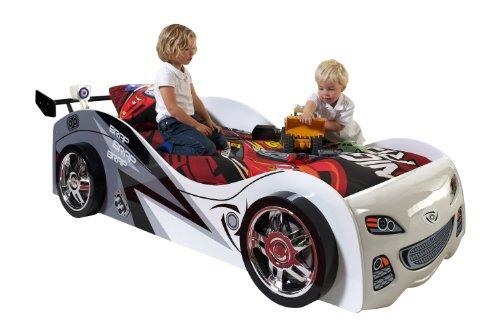 Vipack SCBB200W Brap Car Lit MDF Blanc 240 x 110 x 65 cm