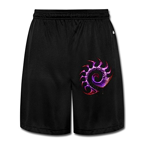 Men's Starcraft II Game Series Zerg Ze Symbol Funny Short Pants Black Size L