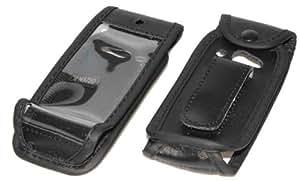 Handytasche Exclusiv Echt-Leder mit Gürtelclip für Nokia 3720 - Farbe: schwarz
