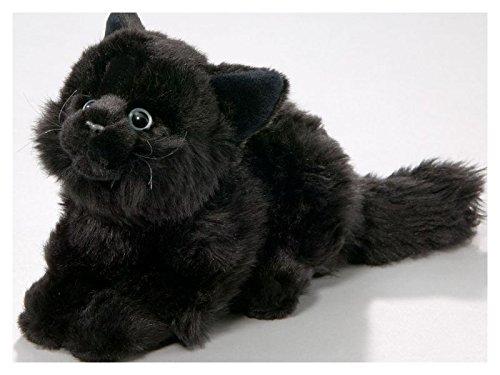 Katze liegend, schwarz aus Plüsch, ca. 20cm