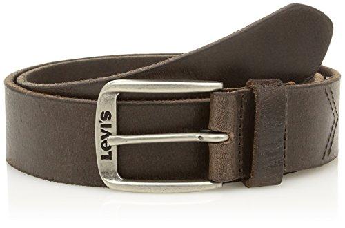 Levi's Classic Top Logo Buckle, Cintura Uomo, Marrone (Dark Brown), 85 cm (Taglia Produttore: 85)