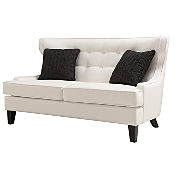 Armen Living Skyline Loveseat, Cream