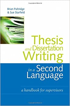 thesis and dissertation writing paltridge