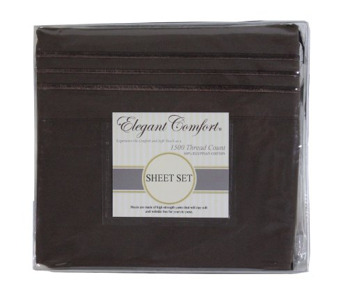 Best Price! Elegant Comfort ® 1500 Thread Count WRINKLE RESISTANT ULTRA SOFT LUXURIOUS 4 pcs Bed Sh...