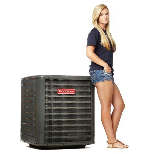 Goodman R410A Split System Heat Pump 16 SEER 4 Ton 2 Stage Compressor Condenser (Goodman 16 Seer compare prices)