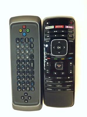 New Original VIZIO Blu-ray BD dual side Keyboard remote control XRB300 XRD2BR XBR102 work for VIZIO Blu-ray DVD VBR122 VBR135 VBR337 VBR338 VBR370 and more VIZIO Blue Ray dvd