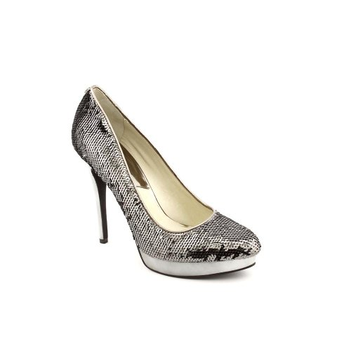 Michael Kors York Pump Womens Size 10 Silver Platforms Heels Shoes