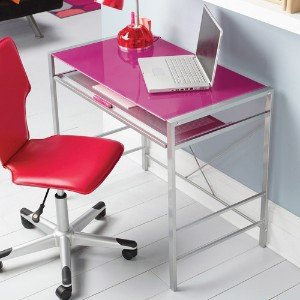 Stylish Glass-Top Desk Brings Organization To Your Work Or Study Area