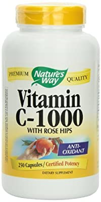 Nature's Way Vitamin C 1000 with Rose Hips, 750 Capsules