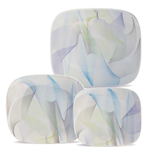Karim Rashid Collection Porcelain Dinnerware Set With 12 Pieces - Fusion