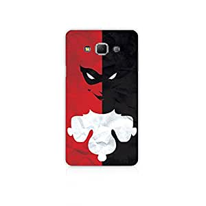 Mikzy Two Face Clown Half Red & Half Black Pattern Printed Designer Back Cover Case for Samsung A7 (Multicolour)