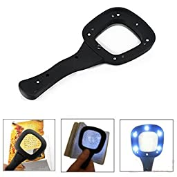 3X Handheld Glass Magnifier Loupe Magnifying LED & UV Light Jewelry Reading Lens