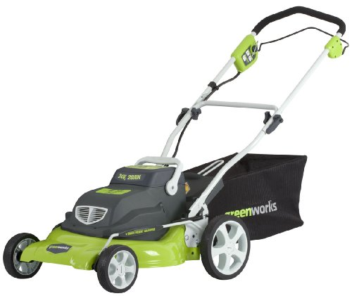 Greenworks 25222 20-Inch 24-Volt Cordless 3-in-1 Lawn Mower with Removable Lead Acid Battery
