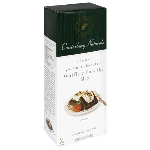 Canterbury Naturals Gourmet Chocolate Waffle & Pancake Mix, 16-Ounce Packages (Pack of 6)