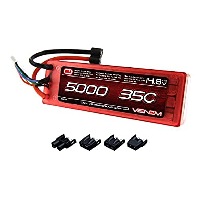 Venom 35C 4S 5000mAh 14.8V Hard Case LiPo Battery ROAR Approved with Universal Plug (EC3/Deans/Traxxas/Tamiya)