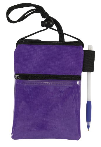 Bags For Less Travel Neck Wallet Passport Badge Holder, Purple