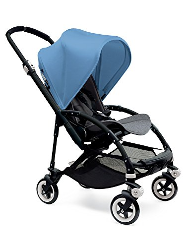 Bugaboo Bee3 Stroller - Ice Blue - Grey Melange - Black