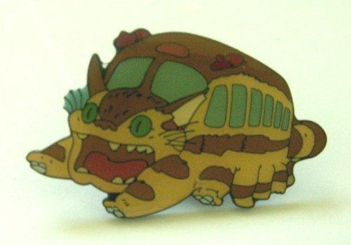 My Neighbor Totoro Catbus Metal Pin ~Brown Cat Bus Pin~