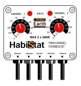 Habistat Twin-channel Reptile Vivarium Thermostat from Habistat