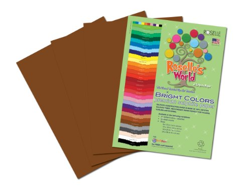 Roselle Bright Colors Suphite Construction Paper, 9 x 12 Inches, Dark Brown, 50 Sheets Per Package (72401) - 1