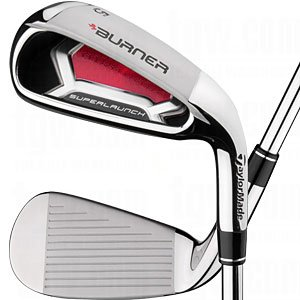 Left Hand TaylorMade Mens Burner SuperLaunch Burner SF 85 Steel Regular Flex Iron Set