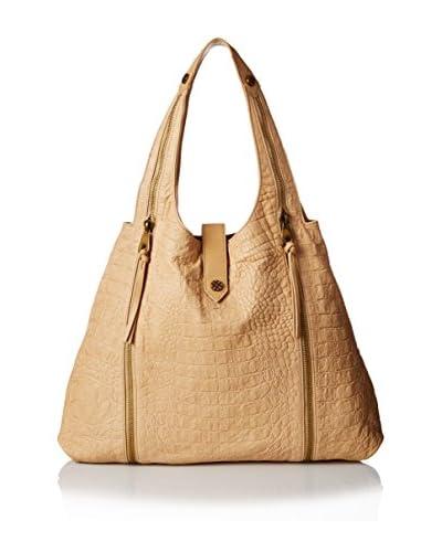 Joelle Hawkens Women's Courtney Soft Croco Hobo Bag, Sand