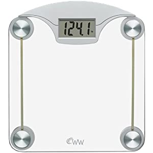 Conair Weight Watchers Digital Glass Scale with Stainless Steel Accents