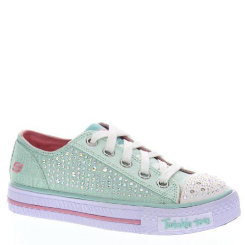 Skechers Shuffles Glamour Ties Girls' Toddler-Youth Oxford 10.5 M Us Little Kid Aqua front-770567