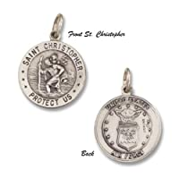 Saint Christopher Military Sterling Silver Medal 3/4 inch from R&P