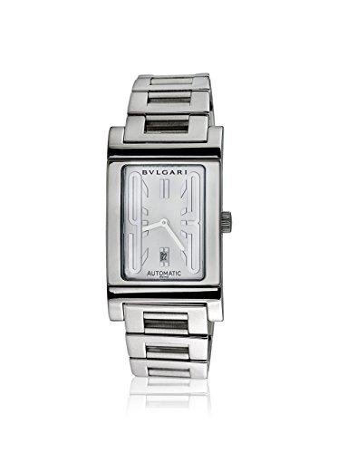 Bulgari Men's Pre-Owned Rettangolo White/Stainless Steel Watch