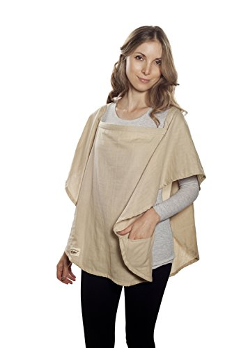 Poncho Baby Nursing Cover, Oval Beige front-218064