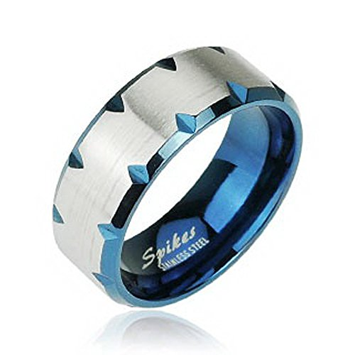 Size 10 Cobalt Blue & Silver Band Ring чехол на сиденье skyway chevrolet cobalt седан ch2 2